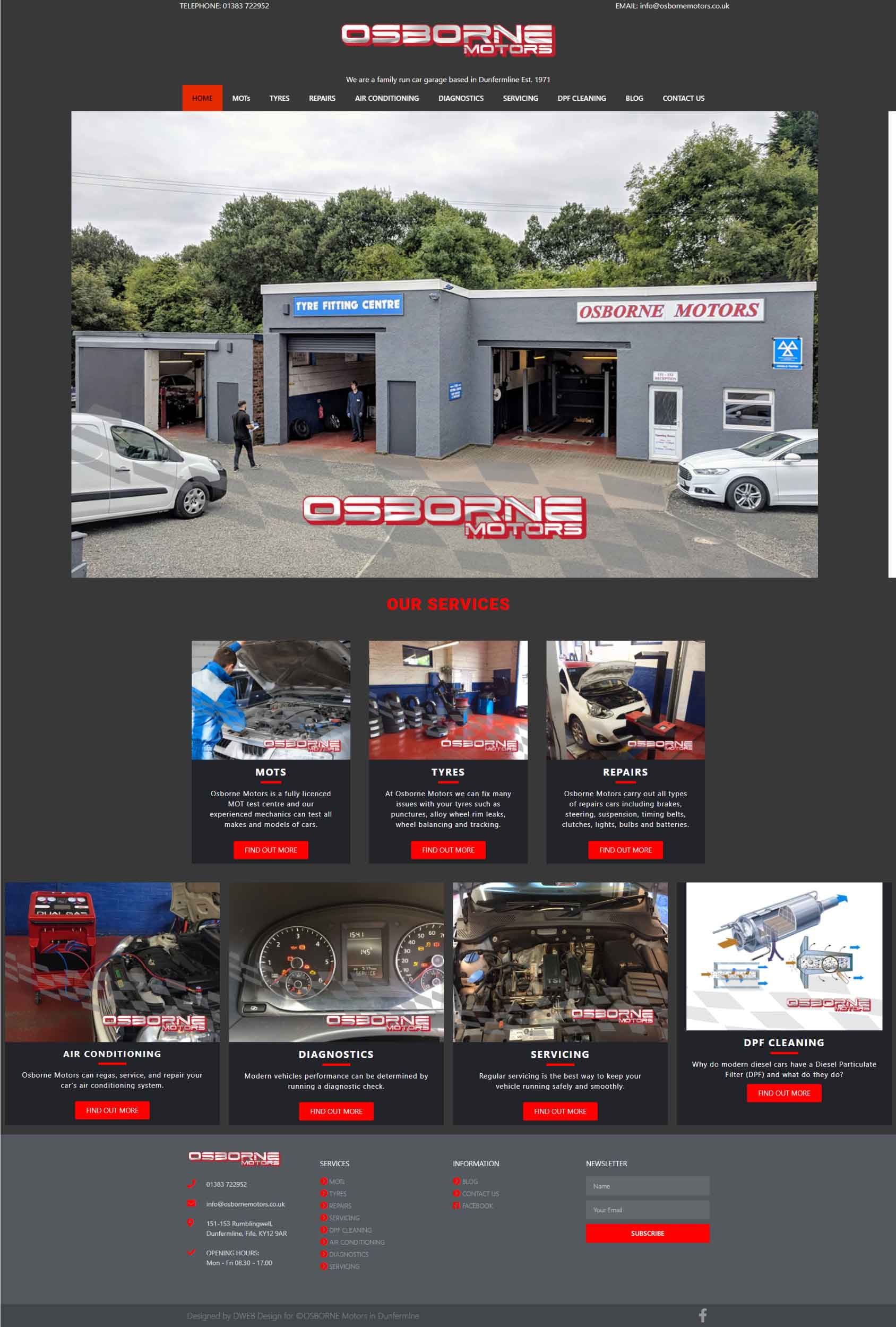 Osborne Motors Website
