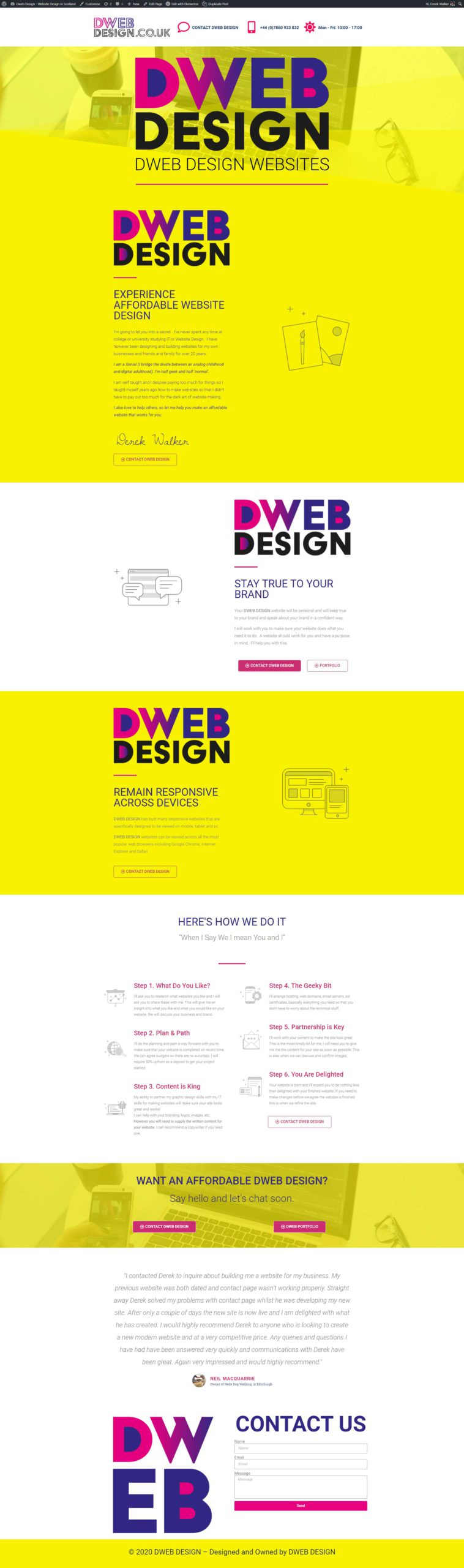 Website Dunfermline in Dunfermline by Dweb Design