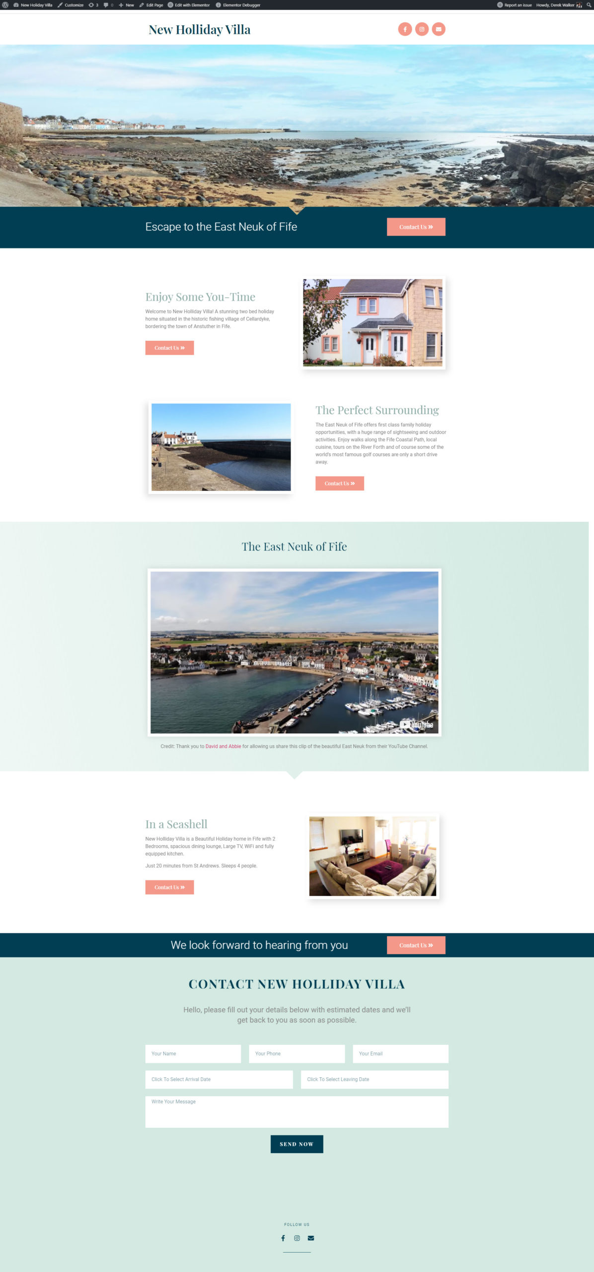 Holiday Home Website by Dweb Design